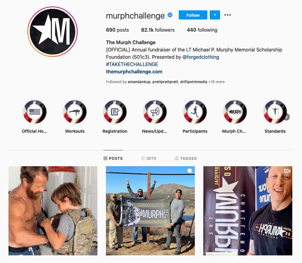The Murph Challenge Instagram